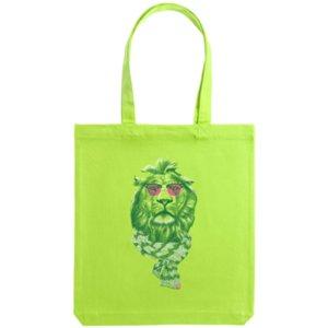 Холщовая сумка «Лев», зеленая