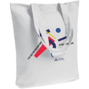 Холщовая сумка «Я не ищу мотивацию вовне», белая