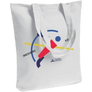 Холщовая сумка «Просто берите и делайте», белая