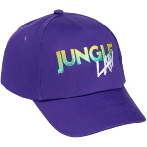 Бейсболка с вышивкой Jungle Law, фиолетовая