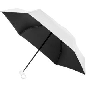 Складной зонт Cameo, механический, белый с белой ручкой