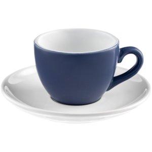 Чайная пара Cozy Morning, синяя с белым