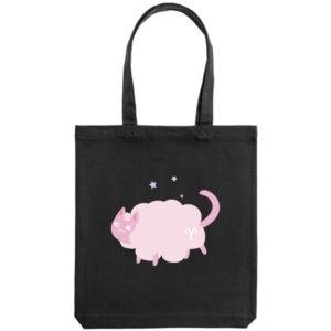 Холщовая сумка «Овен», черная