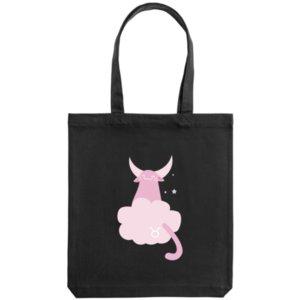 Холщовая сумка «Телец», черная