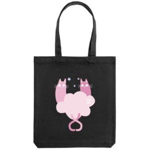 Холщовая сумка «Близнецы», черная