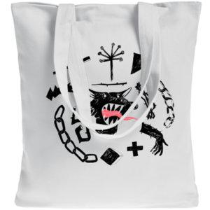 Холщовая сумка Elements «Круговорот», белая