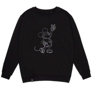 Свитшот с вышивкой Mickey Mouse, черный