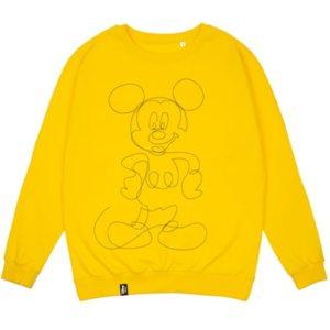 Свитшот с вышивкой Mickey Mouse, желтый