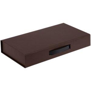Коробка с ручкой Platt, коричневая