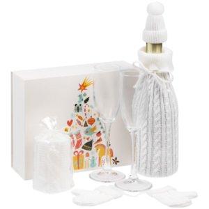 Набор «Белая нежность» с бокалами для шампанского