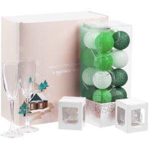 Набор Merry Moments для шампанского, зеленый